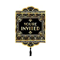 Fancy Dress VIP Express 1920s Art Deco Hollywood Party Invitations Years Pack of 8 Postcards
