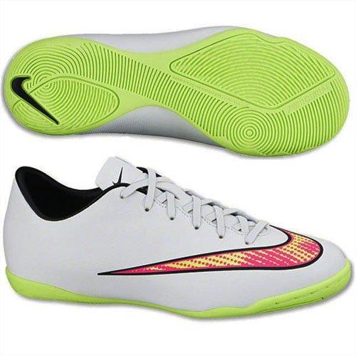 Nike Jr Mercurial IC Jungen Fußballschuhe Weiß