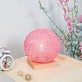 RUXMY 2018 Nachttischlampe Kinderzimmer Holzsitz Platz Schreibtischlampe Warm Romantische Moderne Minimalistische Kreative Ball Kleine Nachtlicht (Durchmesser 20 cm)