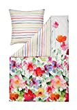 Estella Mako-Satin Wendebettwäsche Aquarell Multicolor 240x220 cm + 2X 80x80 cm