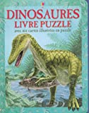 Dinosaures - Livre puzzle avec 6 cartes illustrées en puzzle