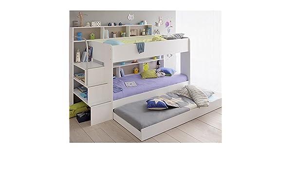 Etagenbett Quatro : Cravog etagenbett stockbett hochbett 3 x liegeflächen 90x200 cm