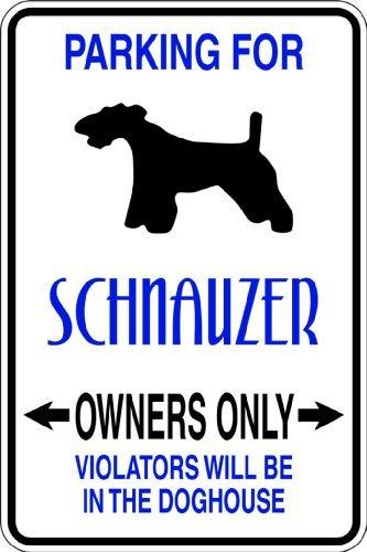 Parkplatz für Schnauzer Bild Kunst-Parking Signs-Abziehen & Aufkleben Aufkleber-VINYL WALL Aufkleber-Größe: 22,9x 45,7cm-22Farben erhältlich -