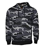 Rock-It Kapuzenjacke Sweatjacke Heavy Camouflage Zipper Workerhoodie Pullover - Herren Farbe Schwarz/Grau/Blau - Medium