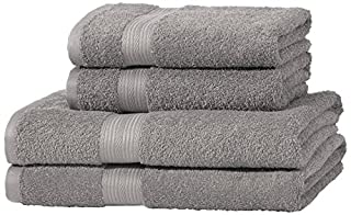 AmazonBasics - Juego de toallas (colores resistentes, 2 toallas de baño y 2 toallas de manos), color gris (B00Q4TIZAS) | Amazon price tracker / tracking, Amazon price history charts, Amazon price watches, Amazon price drop alerts