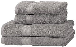 AmazonBasics - Juego de toallas (colores resistentes, 2 toallas de baño y 2 toallas de manos), color gris (B00Q4TIZAS) | Amazon Products