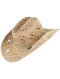 Westernwear-Shop.com Chapeau de Paille Harry Nature de Scippis Edition Chapeau de Cowboy Chapeau de Paille