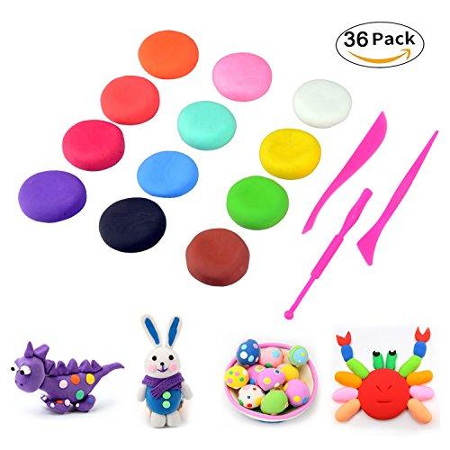 Fluffy Slime, Togather 36 Farben DIY Fluffy Floam Slime Schleim Kinderknete Entspannung Spielzeug Weihnachtsgeschenk für Kinder und Erwachsene