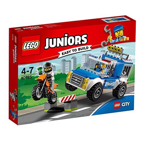 LEGO Juniors 10735 - Polizei auf Verbrecherjagd, Spielzeug für 4 Jährige - Bau Juniors Lego