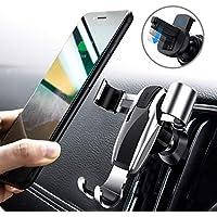 DIVI Car Phone Holder, Gravity Universal Air Vent Phone Mount Stable Car Cradle Mount 360° Adjustable for Phone X/ 8/7/ 6s/ Plus, Galaxy S9/S8/S7 Edge, Note 8/5/ 4, LG/ G6/ V20, Nexus (Silver)