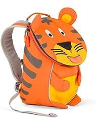 Affenzahn Kinderrucksack mit Brustgurt für 1-3 jährige Jungen und Mädchen im Kindergarten oder Kita der kleine Freund Timmy Tiger - orange