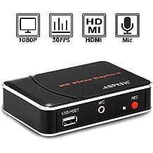 AGPtek [EU plug] HD Game Capture HD video capture 1080P HDMI/YPBPR Recorder for Xbox 360&One/ PS3 PS4