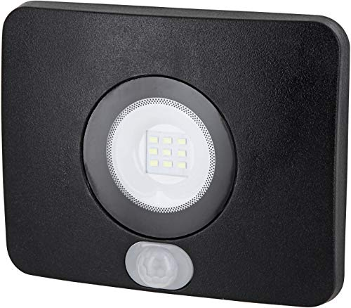 SuperSlim LED Foco exterior IP65 con detector de movimiento – 10 W 750lm 230 V – 36 mm Plano – Fría (6500 K)