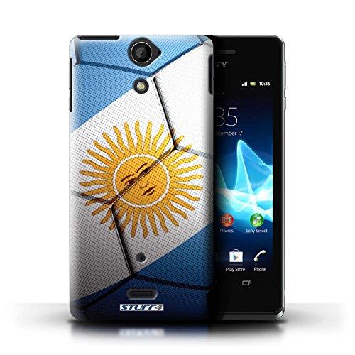Kobalt® Imprimé Etui / Coque pour Sony Xperia V/LT25i / France/Français conception / Série Nations de Football Argentine