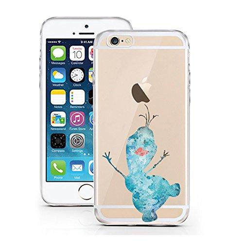 iPhone 6 6S Hülle von licaso® für das Apple iPhone 6 aus TPU Silikon Schneemann Aquarell Winter...