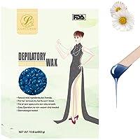 Cera Depilatoria 300g,LuolLove Natural Perlas de Cera sin Irritación Cera Caliente para Hombres Mujer Full-Body Depilación (Manzanilla)