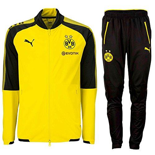 Puma BVB Dortmund Borussia Polyester Trainingsanzug Gelb Kinder Herren 2017 2018 Größe 140