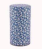 JinShi Studio Teedose, bespannt mit japanischem Seidenpapier, blaues Kirschblütenmotiv, 150 g