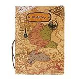 Accesorios Viaje Fundas Pasaporte Caja Sostenedor Cubierta Organizador Protector Cartera Tarjetas Identificación Mapa del Mundo Tridimensional - Marrón