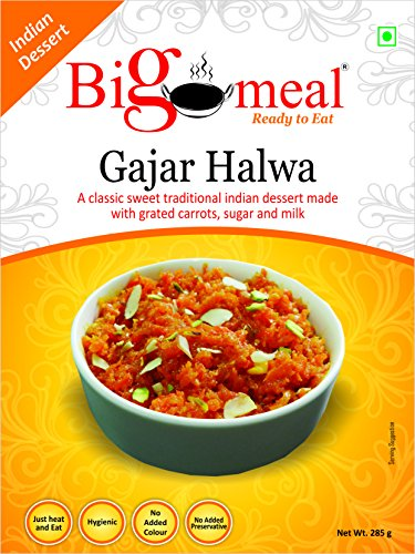 Bigmeal Ready to Eat Gajar Halwa ( 2 Packs of 285 g each)