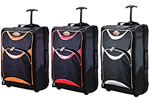 HUMLIN CABIN BAG LIGHTWEIGHT WHEELED CABIN BAG TRAVEL SUITCASE CASE HAND LUGGAGE TROLLEY HOLDALL HM3 (Randomly Chosen)