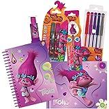 Stylex 10111788b–Juego de material escolar (11 piezas), diseño de Trolls de Dreamworks