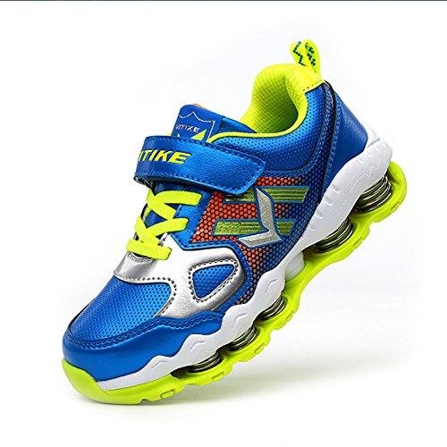 ASHION Kinder Sport Schuhe Jungen Mädchen Frühling Dämpfung Außensohle Slip Sneakers Grün