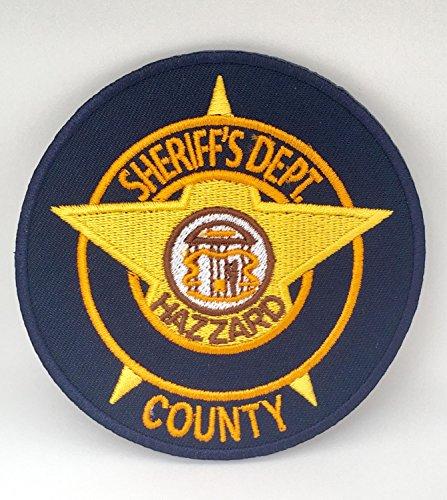 MemelBurg Herzöge von Hazzard Patch (3,5 Zoll) gesticktes Eisen oder auf Abzeichen Rosco County Sheriff Applique Movie Souvenir DIY Kostüm - County Sheriff Kostüm