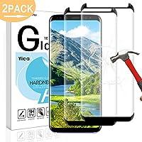 Galaxy S8 Panzerglas Schutzfolie , Yica 2 Stück 9H Härtegrad 3D HD Ultra Klar Anti-Kratzer Blasenfrei Panzerglasfolie Hartglas Gehärtetem Glas Displayschutzfolie für Samsung Galaxy S8