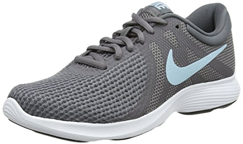 Nike Revolution 4, Zapatillas de Running Para Mujer, Gris (Gunsmoke/Ocean Bliss/Dark Grey/White/Black 004), 38.5 EU