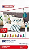 edding 4600 Textil-Stift - 10er Set - Fun Farben - Rundspitze 1 mm - Zum Bemalen von Textilien (wie z.B. T-Shirt, Kissen, Beutel) - Textilfarbe waschmachinenfest bis 60°C