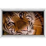 Vitila Kreativ Posted Home Decor Wohnzimmer Schlafzimmer Bad Persönlichkeit 3D Wandaufkleber Niedlichen Tiger Selbstklebende Plakat PVC Abnehmbare Tapete Wandtattoos