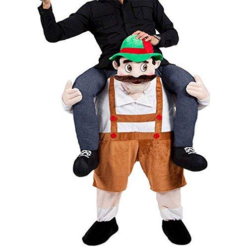 Imagen de disfraces divertidos fantasticos traje con falsas piernas costume para adultos fiesta carnaval chico de la cerveza