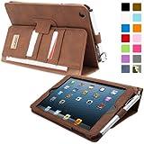 Snugg™ - Étui Professionnel Pour iPad Mini & iPad Mini 2 - Smart Case Avec Compartiment Pour Cartes Et Une Garantie à Vie (En Cuir Marron) Pour Apple iPad Mini & iPad Mini 2