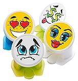 Canper Dosenaufsatz/Dosendeckel Emoji, 4er Packung, Plastik, Mehrfarbig