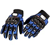 Motorcycle Racing biker Accessories & Parts Bike Bicycle Full Finger Protective Gear Gloves Black With Blue Color