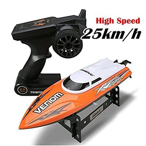 Gecoty® 2.4G RC Toy UDI udi001 Infinitely Variable Speeds High Speed Racing Boat 32CM 25km/h Best Gift (Color Random)