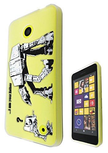 Banksy Grafitti Art c0070-Star Wars Küchenmaschine Nokia Nokia Lumia 630 Design Handyschale, Rückseitenschutz, Gummi Schutz, Silikon, Gel Case