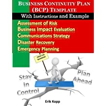 Business Continuity Plan (BCP) Template With Instructions and Example by Erik Kopp (2011-09-23)