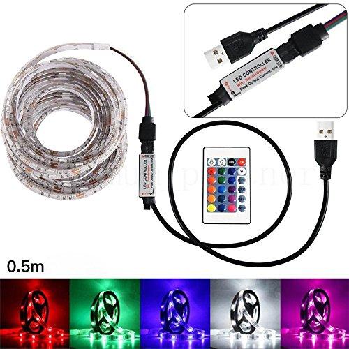 LETTER* 50-200CM USB LED Strip Light TV Lámpara trasera 5050RGB Cambio de...