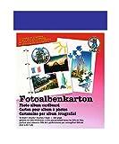 Ursus 25000039 - Fotoalbenkarton DIN A4, 4 fach gelocht, 300 g/qm, 10 Blatt, königsblau