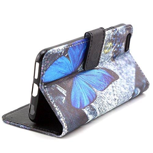 TIODIO® 4 en 1 Skin Coque en PU Cuir Portefeuille Housse de Protection à rabat Case Etui Pour Apple iphone 6S/iPhone 6, Stylus et Film protecteur inclus, A45 A01