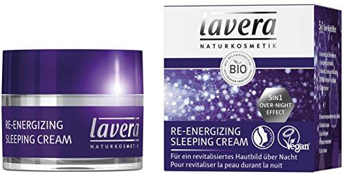 lavera Crème de Nuit Re-energizing Sleeping Cream - Vegan - Cosmétiques naturels - Ingrédients végétaux bio - 100% naturel 50ml