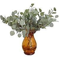 2 ramas de árbol falsas, con hojas de eucalipto artificial, de estilo otoñal, en spray, para casa, oficina, manualidades, decoración de fiesta, verde, Tamaño libre