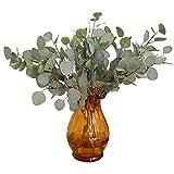 Künstliche Blätter, Fake Eukalyptus Simulation Blättern für Hochzeit Party Home Office Dekoration, grün, Free Size