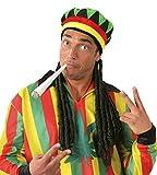 Enter-Deal-Berlin 3 Teile Set Jamaikaner ( Mütze mit Dreadlocks, 2 Stück Fake Joints ) Karibik Reggae-Musik Bob-Sänger Festival