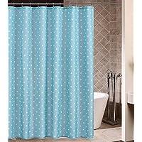 GYMNLJY Doccia tenda blu poliestere impermeabile addensare Bath Shower Curtain