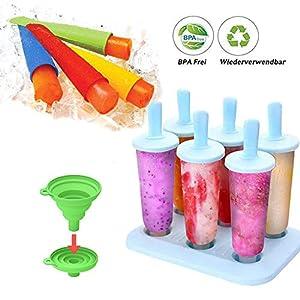 BSET BUY Eisform, DIY hausgemachte kreative Eisformen, EIS am Stiel Schimmel Set mit Silikontrichter ...