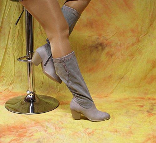 Bottes Femmes en cuir de Arizona Gris