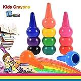 Anteel Peinture au Crayon, Doigt Crayons pour des Gamins, 12 Couleurs 3D Peindre Crayons pour Les Enfants, Les Garçons et Les Filles, Sécurité